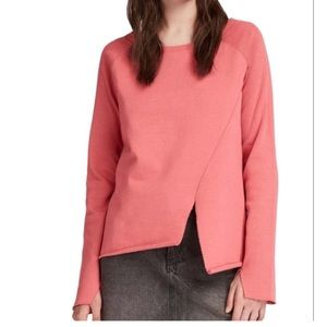 All Saints Pelo Asymmetrical Hem Pullover
